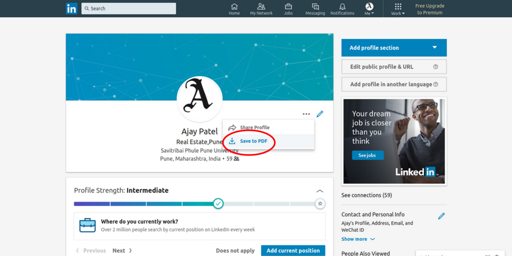 how to create resume from linkedin account in 2 minute
