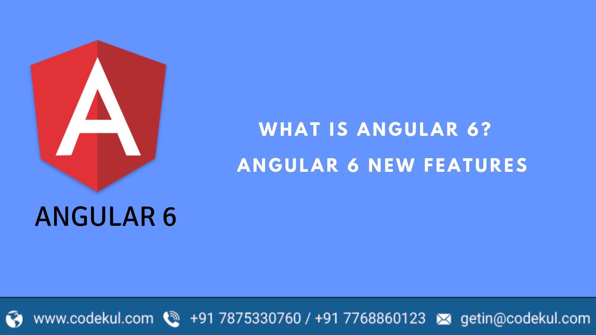 Angular 6 Feature