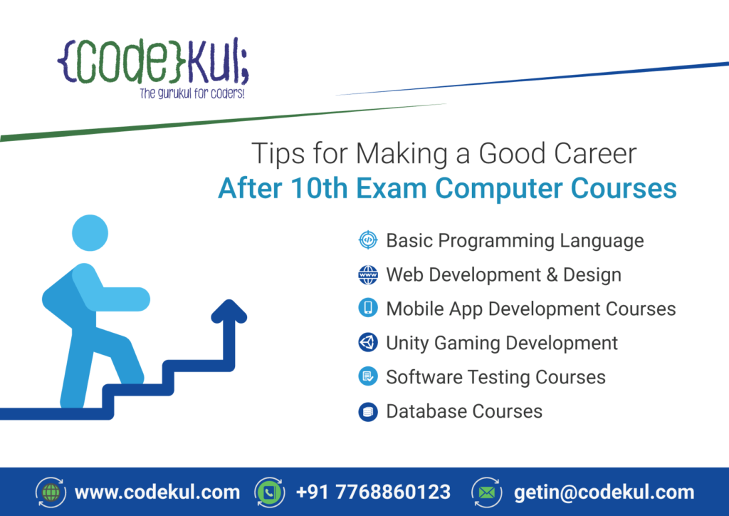 Tips For Making A Good Career After 10th Exam Computer Courses Codekul Blog